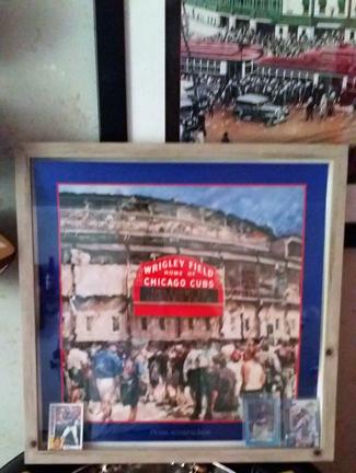 Customer custom framed Chicago Cubs Wrigley Field poster 11