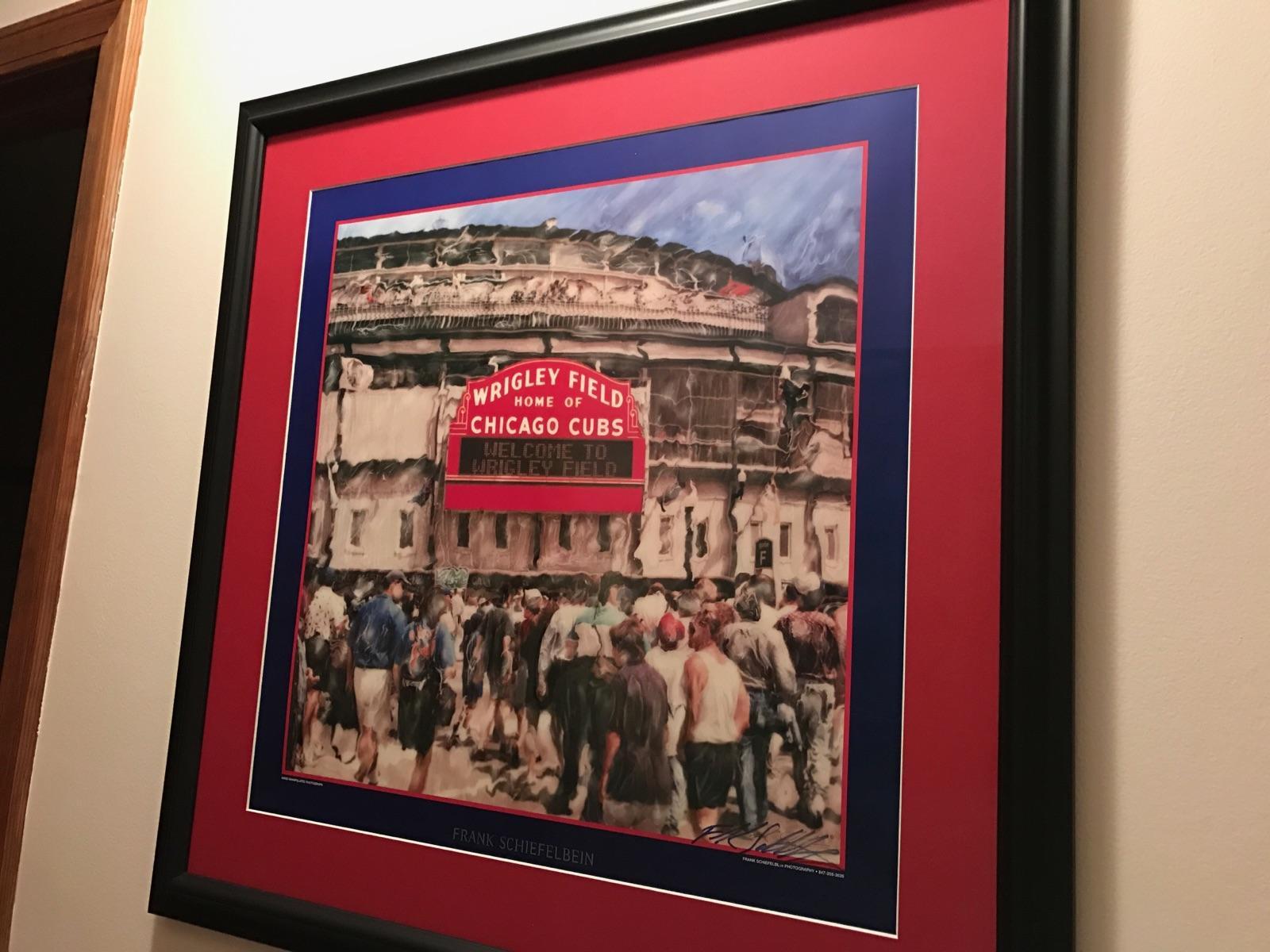 Customer custom framed Chicago Cubs Wrigley Field poster black frame