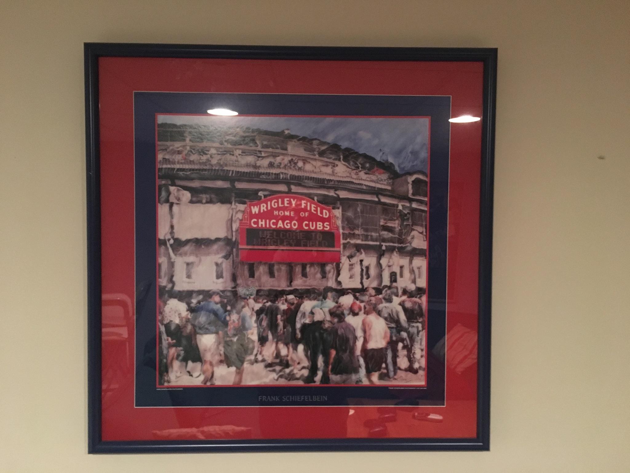 Customer custom framed Chicago Cubs Wrigley Field poster 7