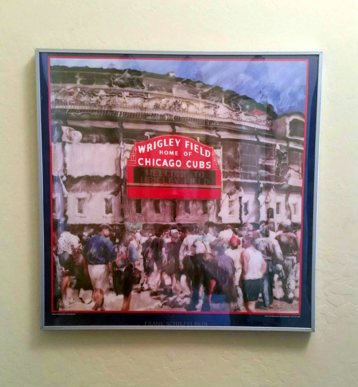 Customer custom framed Chicago Cubs Wrigley Field poster 10