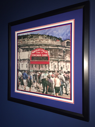 Customer custom framed Chicago Cubs Wrigley Field poster black frame 3