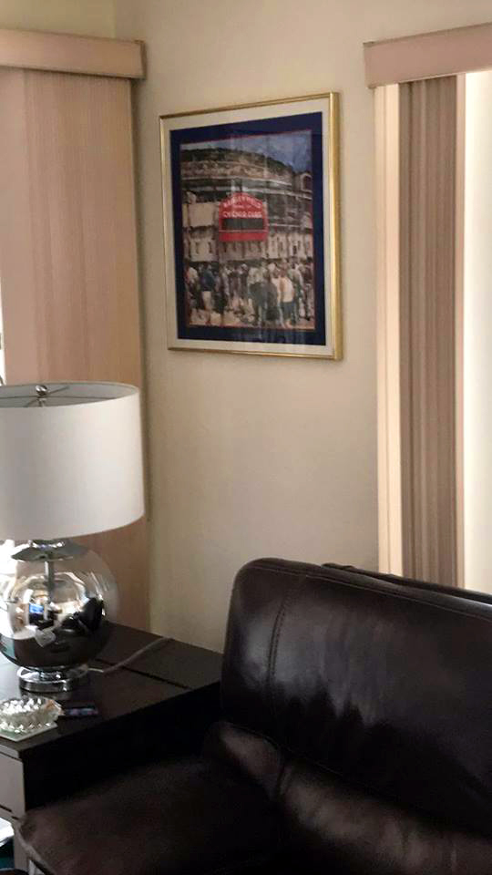 Customer custom framed Chicago Cubs Wrigley Field poster 9
