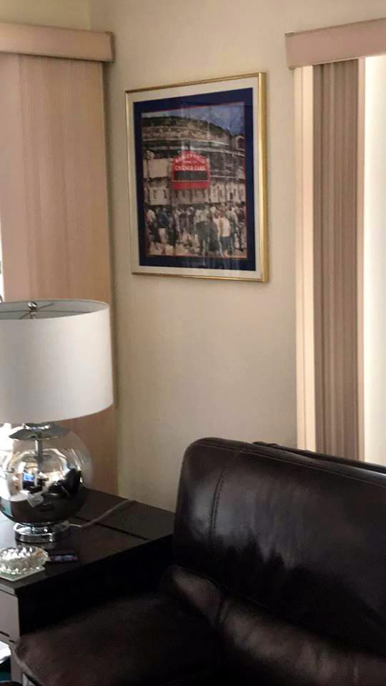 Customer custom framed Chicago Cubs Wrigley Field poster 9