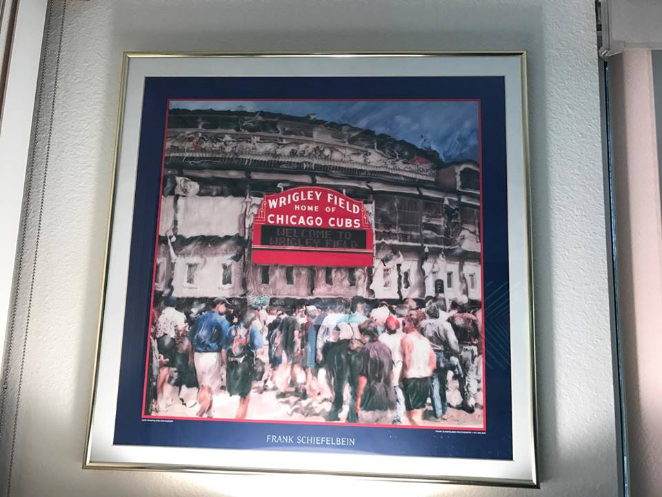 Customer custom framed Chicago Cubs Wrigley Field poster 8