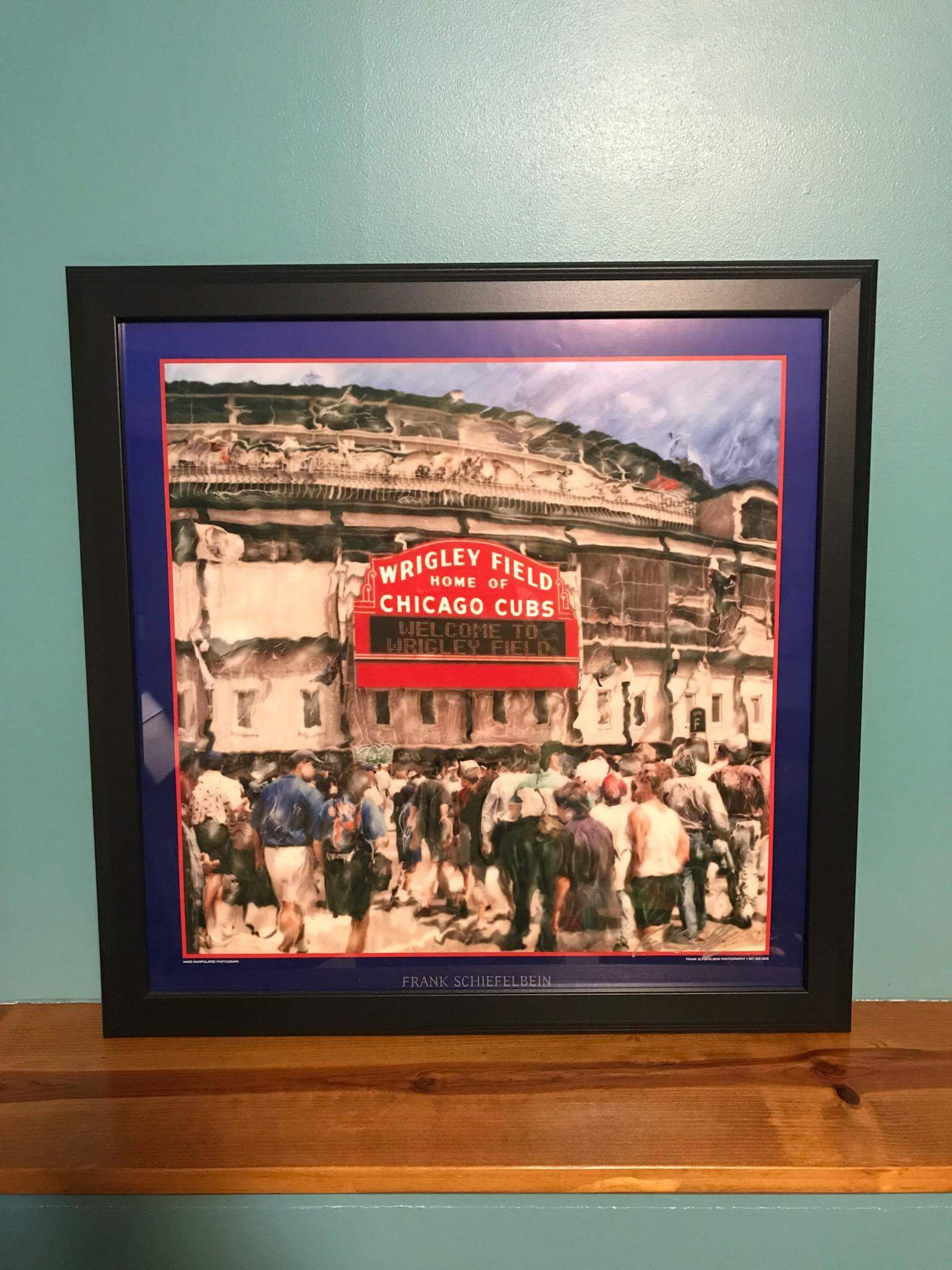 Customer custom framed Chicago Cubs Wrigley Field poster 5