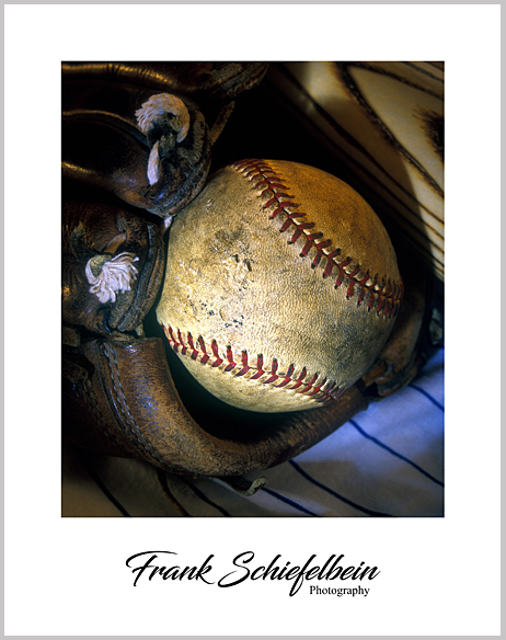 Baseball in Glove Poster Border